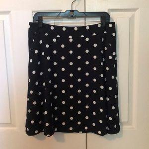 Ann Taylor polka dot skirt